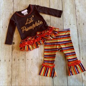 Fall holiday Lil Pumpkin 🎃 ruffled outfit